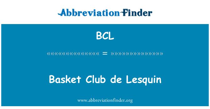 BCL: Basket Club de Lesquin