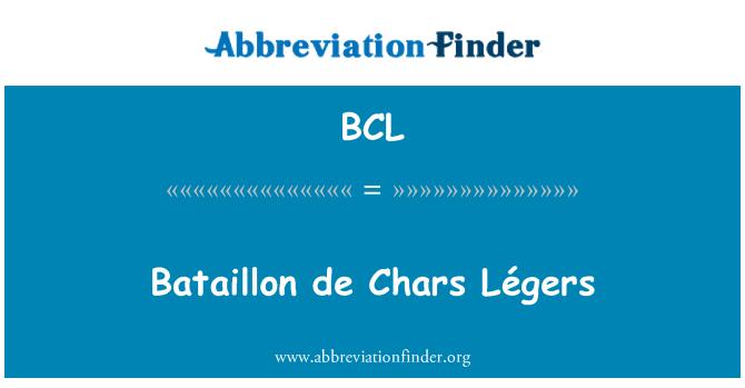 BCL: Bataillon de Chars Légers