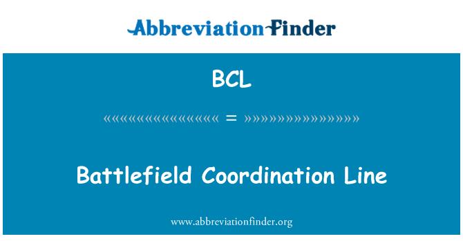 BCL: Battlefield Coordination Line