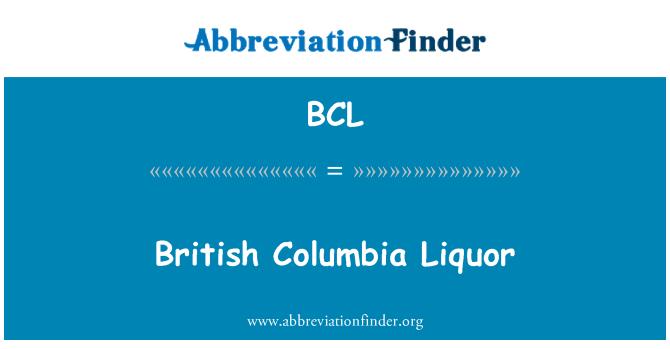 BCL: British Columbia Liquor