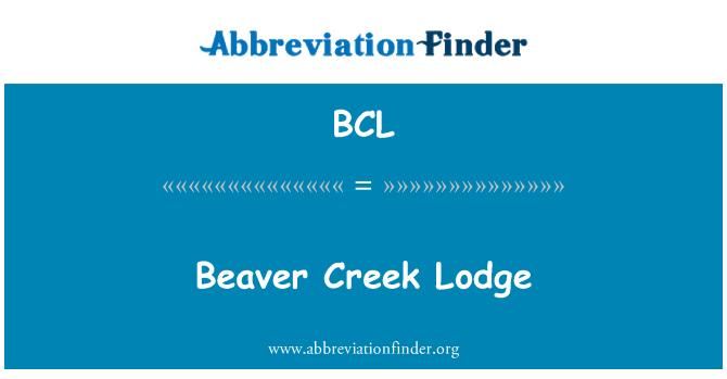 BCL: Beaver Creek Lodge
