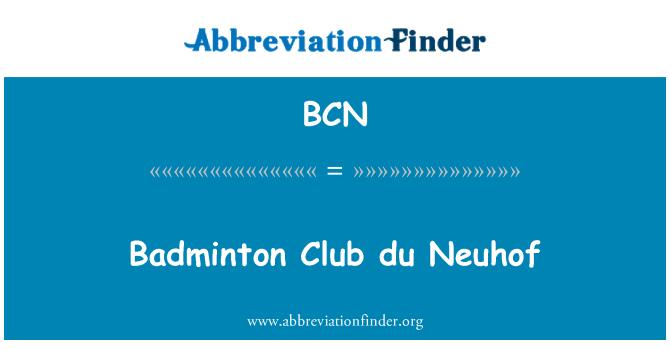 BCN: Badminton Club du Neuhof