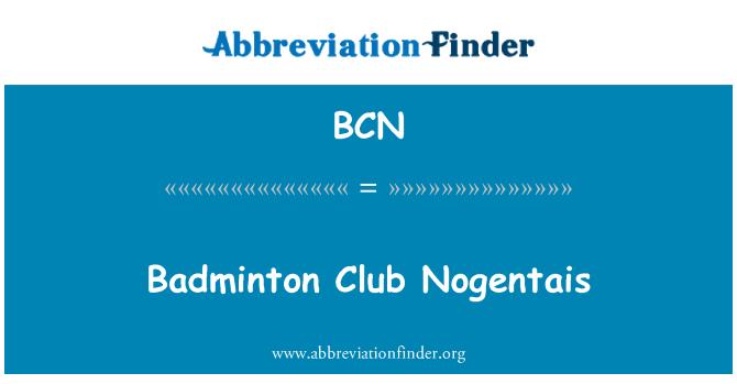 BCN: Badminton Club Nogentais