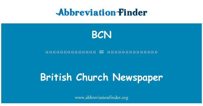 BCN: British Church Newspaper