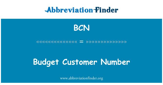 BCN: Budget Customer Number