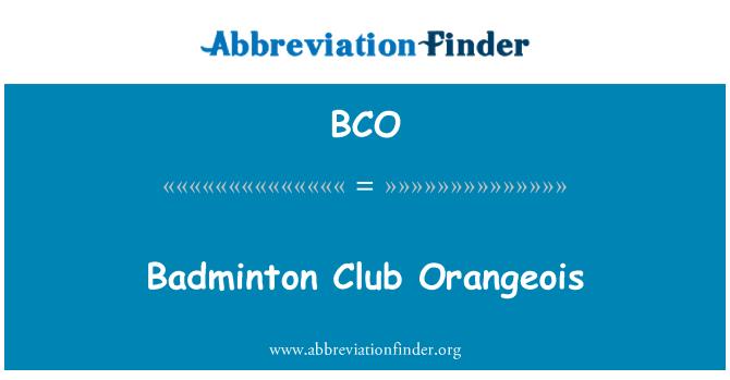BCO: Badminton Club Orangeois