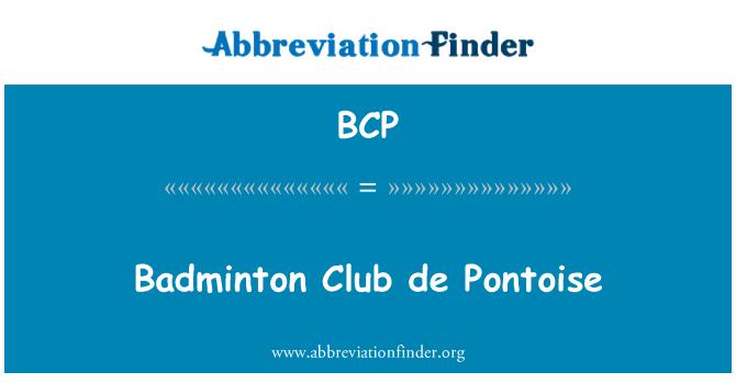 BCP: Badminton Club de Pontoise