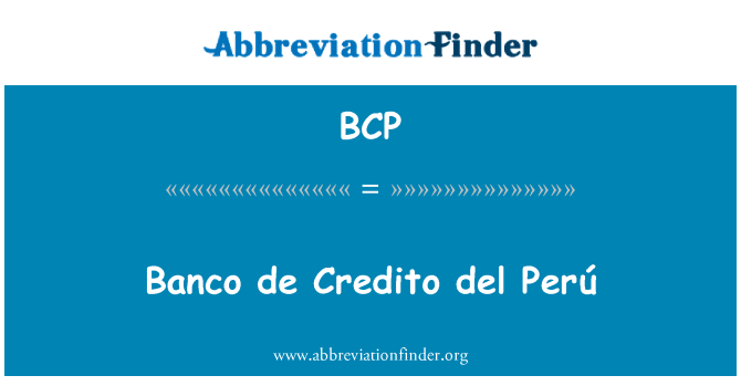 BCP: Banco de Credito del Perú