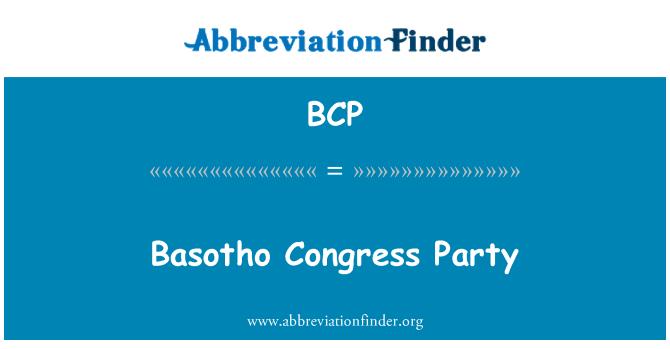 BCP: Basotho Congress Party