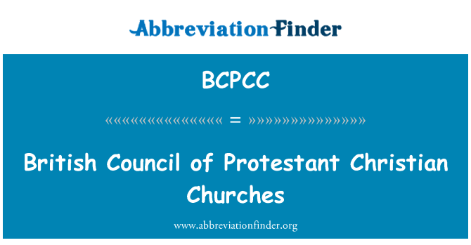 BCPCC: British Council of Protestant Christian Churches