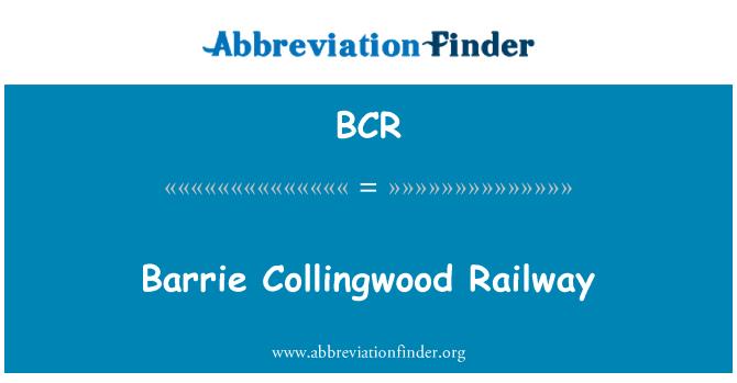 BCR: Barrie Collingwood Railway
