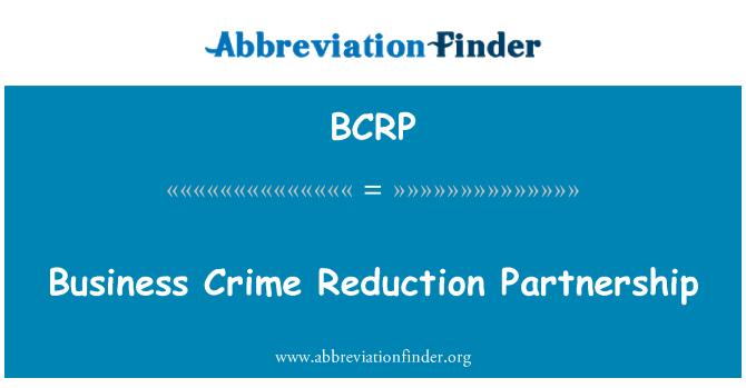 BCRP: Sociedad comercial crimen reducción
