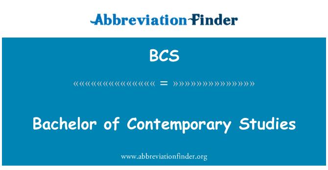 BCS: Bachelor of Contemporary Studies