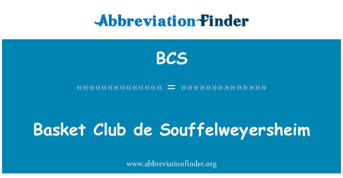 BCS: Basket Club de Souffelweyersheim