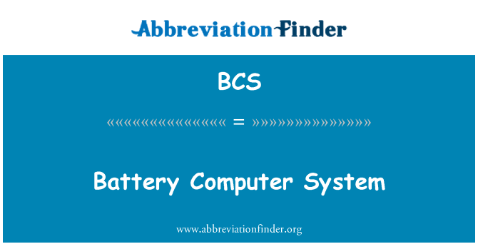 BCS: Battery Computer System