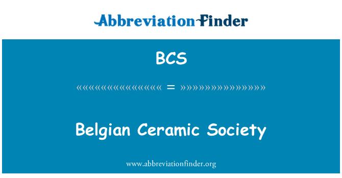 BCS: Belgian Ceramic Society
