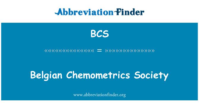 BCS: Belgian Chemometrics Society