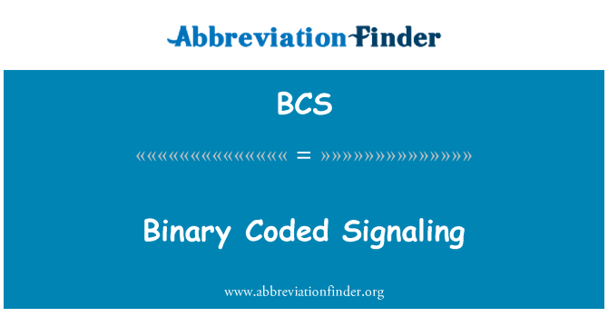 BCS: Binary Coded Signaling