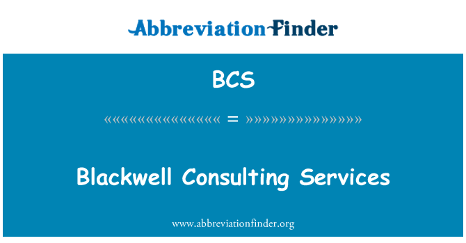 BCS: Blackwell Consulting Services
