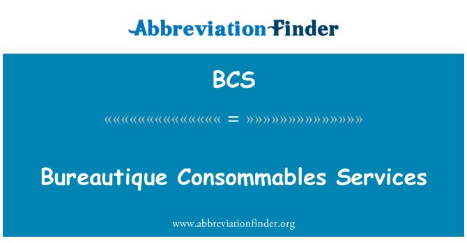 BCS: Bureautique Consommables Services