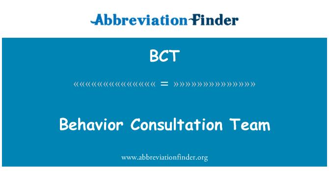 BCT: Behavior Consultation Team