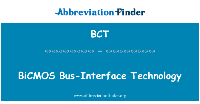 BCT: BiCMOS Bus-Interface Technology