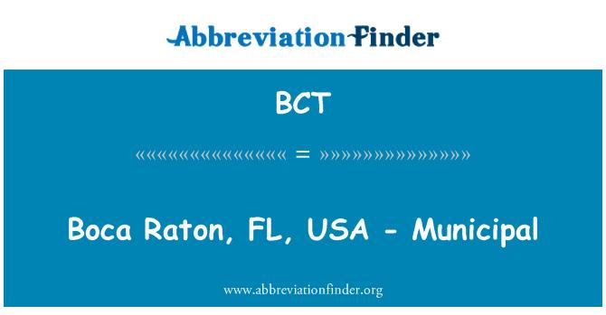 BCT: Boca Raton, FL, USA - Municipal