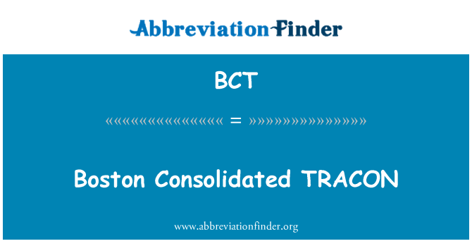 BCT: Boston Consolidated TRACON