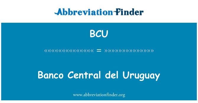BCU: Banco Central del Uruguay