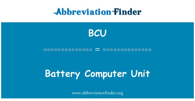 BCU: Battery Computer Unit