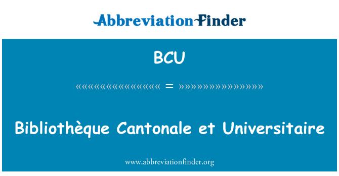 BCU: Bibliothèque Cantonale et Universitaire