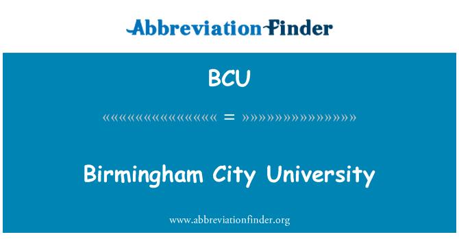 BCU: Birmingham City University