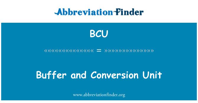 BCU: Buffer and Conversion Unit
