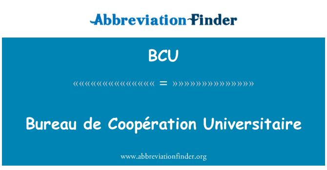 BCU: Bureau de Coopération Universitaire
