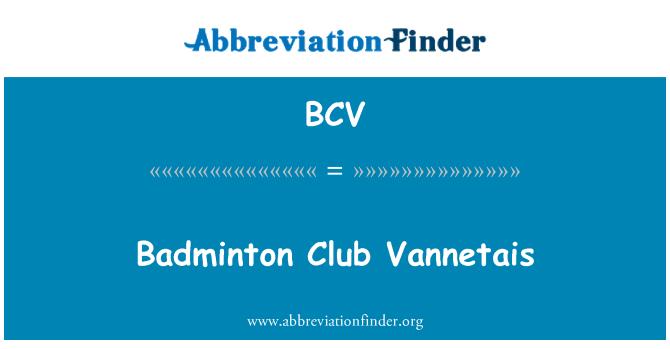 BCV: Badminton Club Vannetais