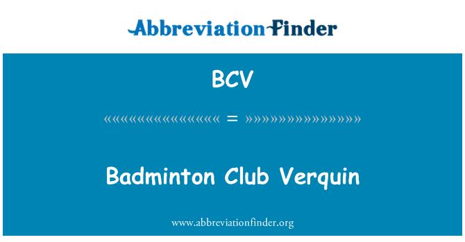 BCV: Badminton Club Verquin