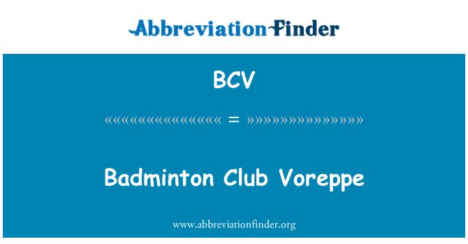 BCV: Badminton Club Voreppe