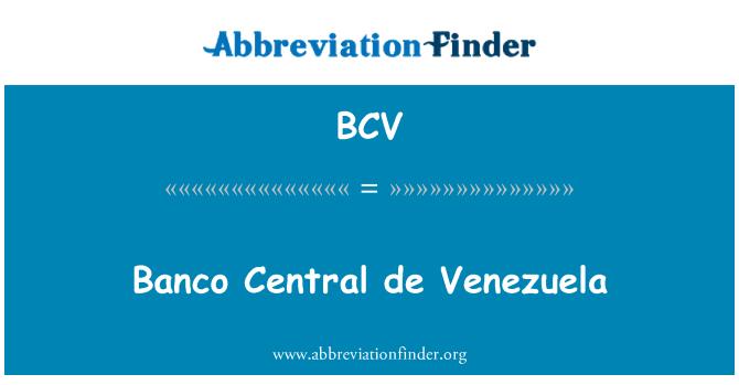 BCV: Banco Central de Venezuela