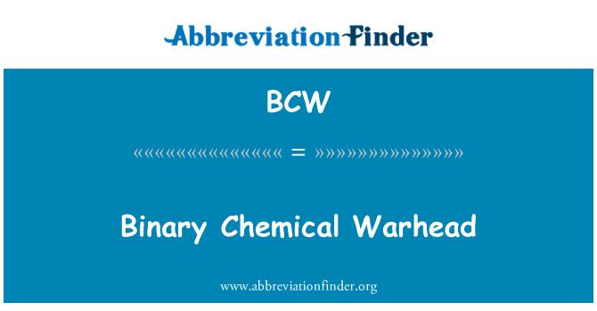 BCW: Binary Chemical Warhead