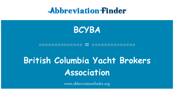 BCYBA: British Columbia Yacht Brokers Association