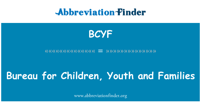 BCYF: Çocuklar, gençler ve aileleri için Büro