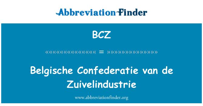 BCZ: Belgische Confederatie van de Zuivelindustrie