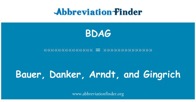 BDAG: Bauer, Danker, Arndt, and Gingrich