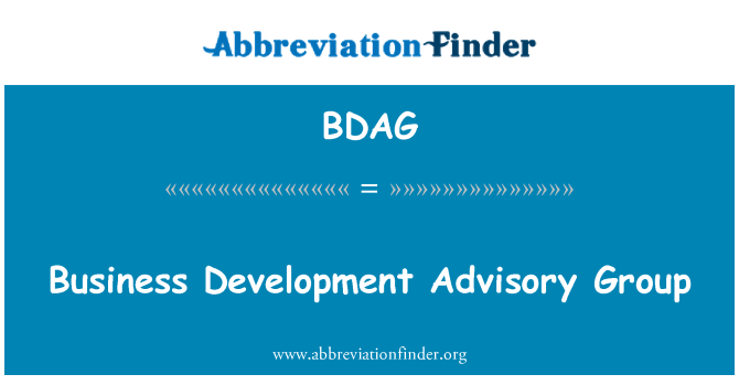 BDAG: Business Development Advisory Group
