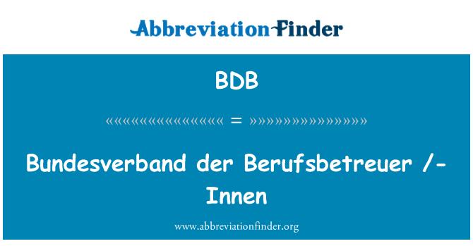 BDB: Bundesverband der Berufsbetreuer /-Innen