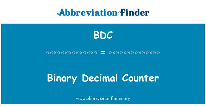 BDC: Binary Decimal Counter
