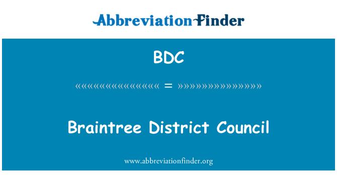 BDC: Braintree District Council