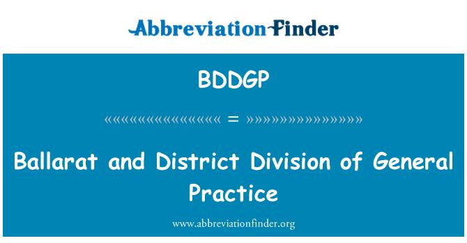 BDDGP: Ballarat and District Division of General Practice