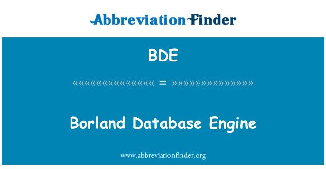 BDE: Borland Database Engine
