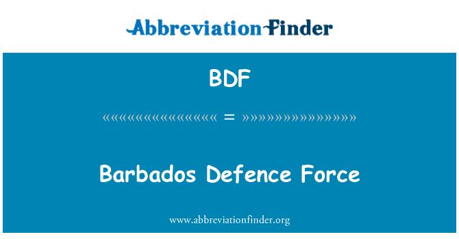 BDF: Barbados Defence Force
